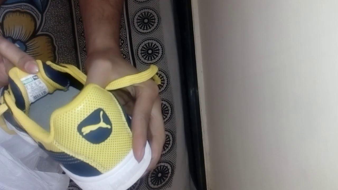 Puma Basket City DP Sneakers For Men | yellow