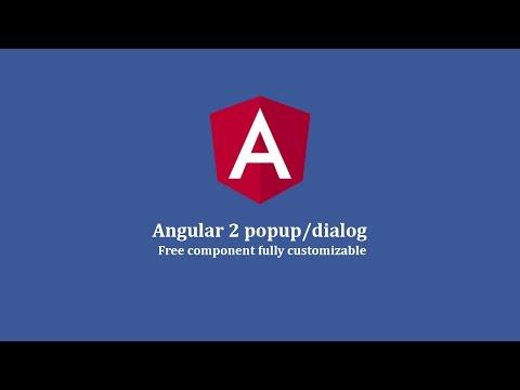 Angular 2 popup/dialog
