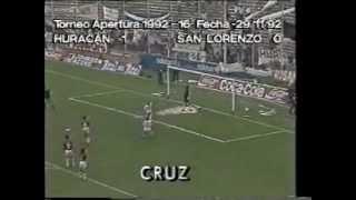 Huracán 1 San Lorenzo 0 Año 1992
