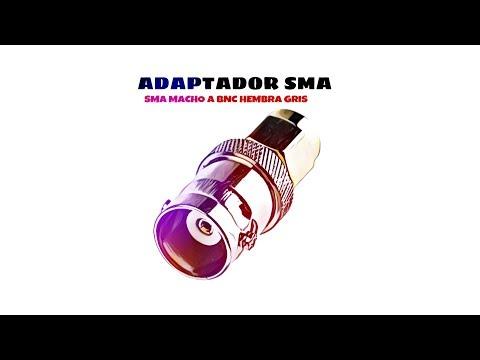 Video de Adaptador SMA macho a BNC hembra  Gris