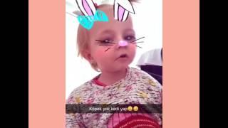 Beren Naz Eğlenceli Snapchat   Sincap Berenin komik halleri