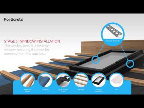 Forticrete Low Pitch Roof Window System