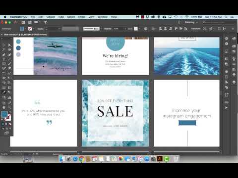 "Free Instagram Template Speed Design - ""Blue Ocean"" Theme"