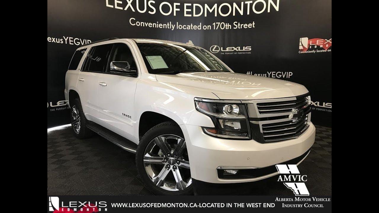 Used White 2016 Chevrolet Tahoe Ltz Walkaround Review Edmonton Ab