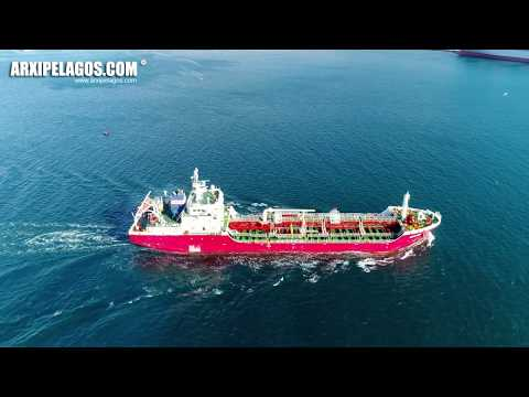 ALFA SEA - Oil Products Tanker IMO:  9517288 ( AERIAL DRONE VIDEO )