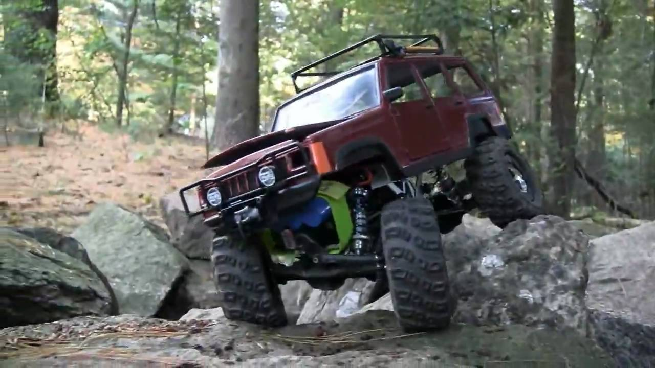 Jeep Cherokee Xj Rc Losi Mini Rock Crawler Youtube