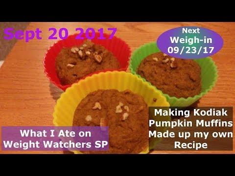 Sept 20 2017 Kodiak Pumpkin Muffins | What I Ate On Weight Watchers SP