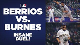 Almost no-no's and a lot of Ks! José Berríos, Corbin Burnes combine for 23 strikeouts in crazy duel