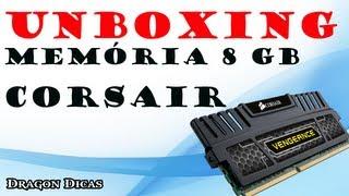 Unboxing Memória Corsair Vengeance 8GB Kabum