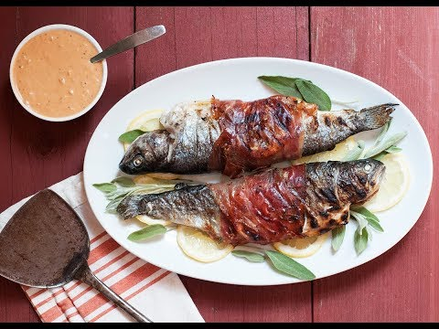 Andrew Zimmern Cooks: Grilled Prosciutto-Wrapped Trout