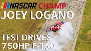 Joey Logano Test Drives The 750 HP Hennessey Heritage Edition F-150 Ford Truck