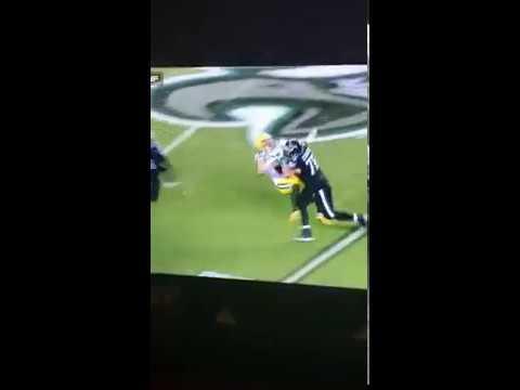 Allen Barbre pancakes Clay Matthews! -Eagles vs Packers (Week 12 MNF)