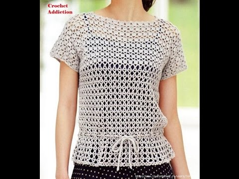 Crochet Patterns For Free Crochet Tops Patterns 1284 Youtube
