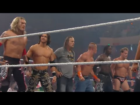 Raw: John Cena & Bret Hart vs. Edge & Chris Jericho
