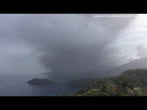 Volcano erupts on St. Vincent island
