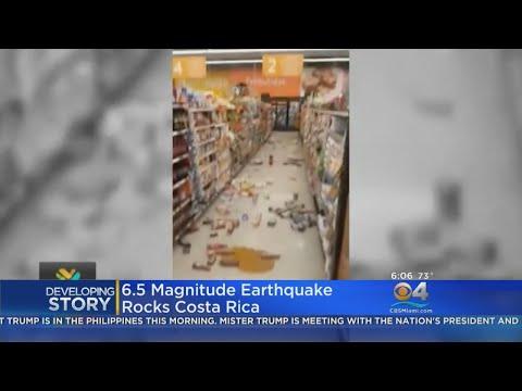 6.5. Magnitude Earthquake Rocks Costa Rica