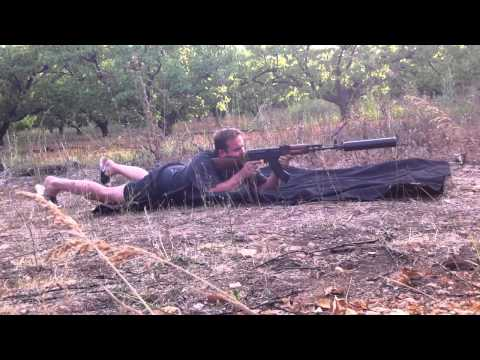 Suppressed Ak47 cycling subsonic ammo reload