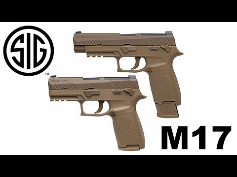 Sig Sauer shows off M17, M18 military contract handguns at
