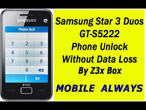 Samsung Star 3 Duos | S5222 Phone Unlock | Without Data Loss