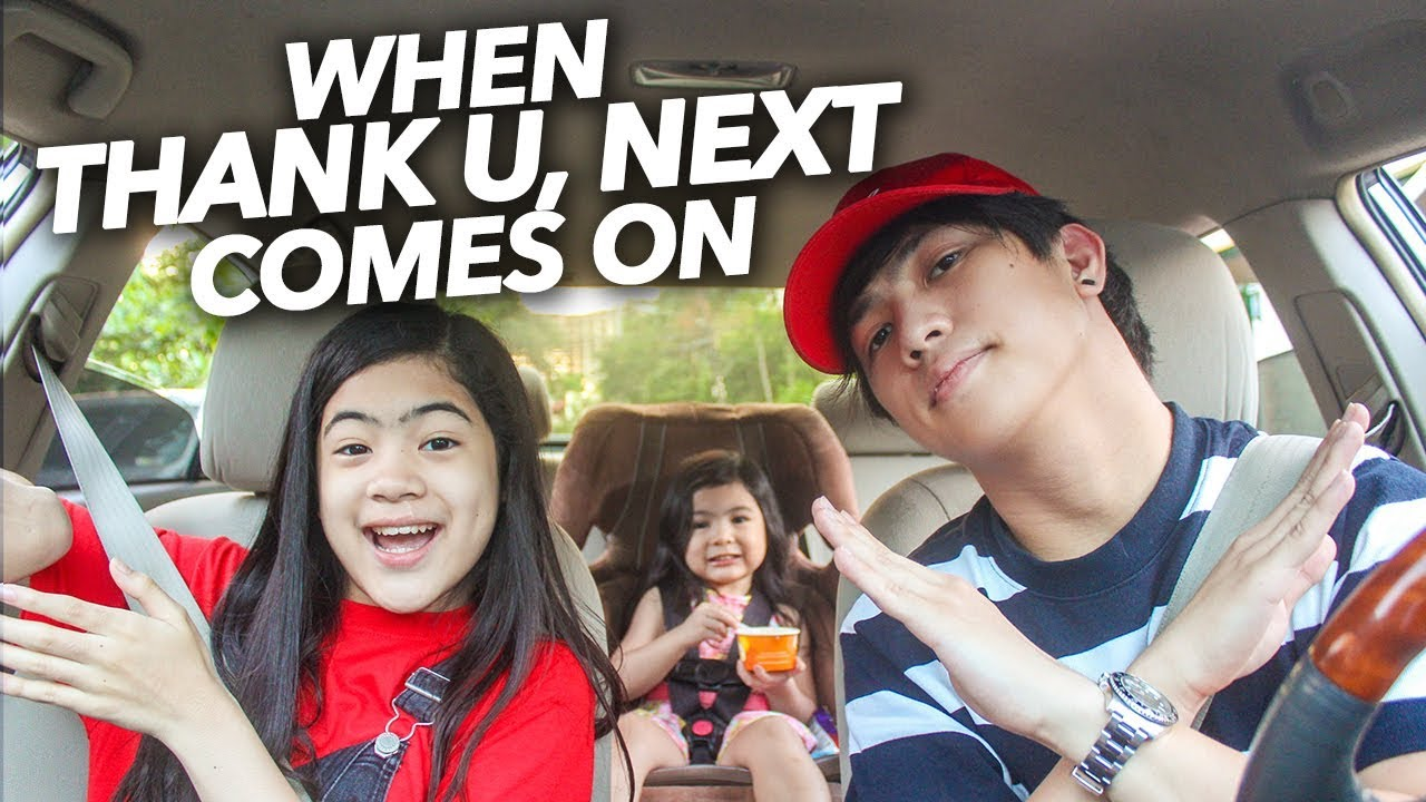 When Thank U Next by Ariana Grande Comes On | Ranz and Niana image