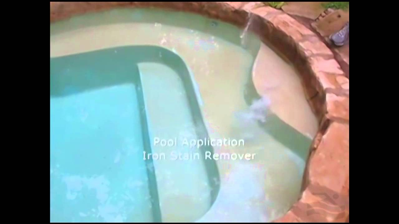 Remove Swimming Pool Metal Stains For Good Youtube