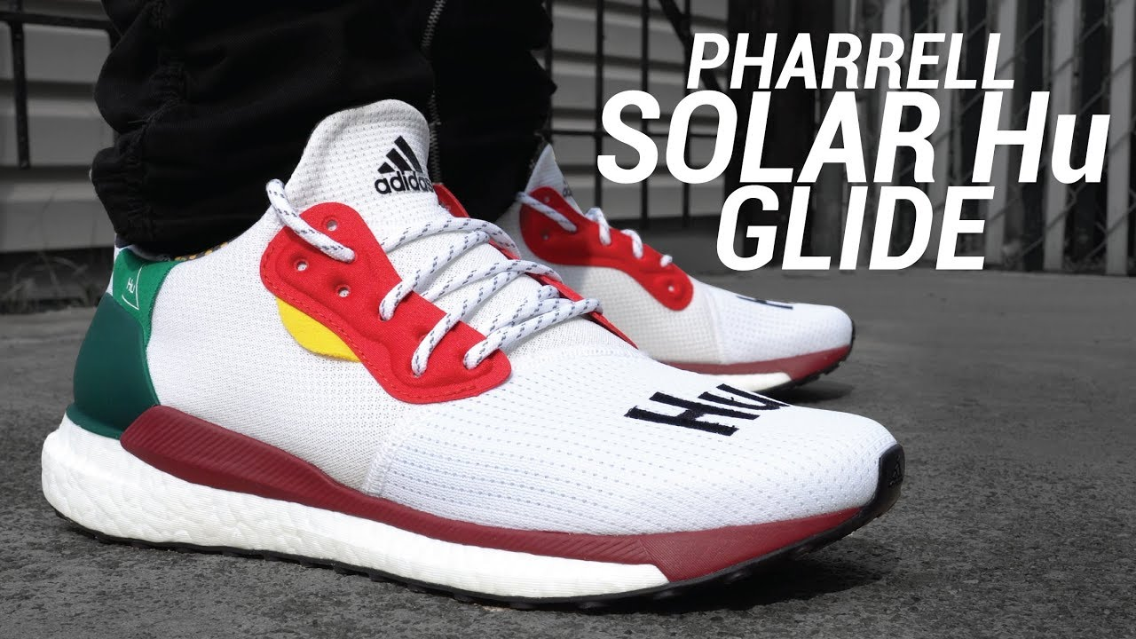 76d7811a8 Pharrell x Adidas Solar Hu Glide Review   On Feet - YouTube