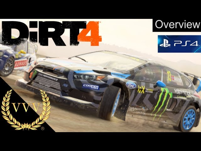 DiRT 4 PS4 Overview