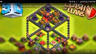 CLASH OF CLANS TH5 3D BASE TROLL BASE!!