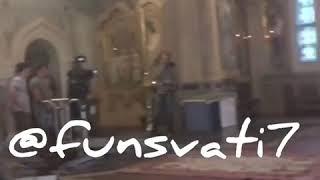Съёмочный процесс сериала «Сватов 7» в церкви!