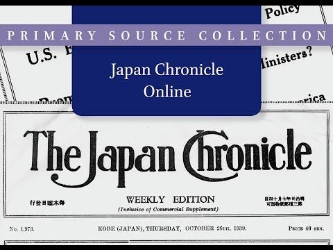 Japan Chronicle Online - a short introduction