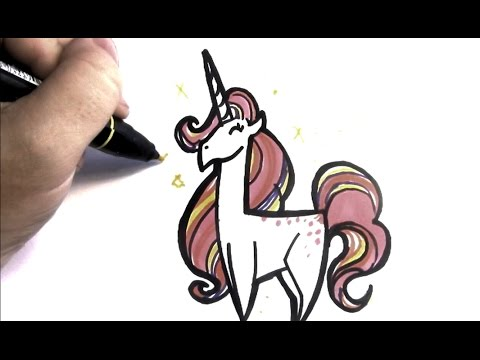 videos on how to draw a unicorn