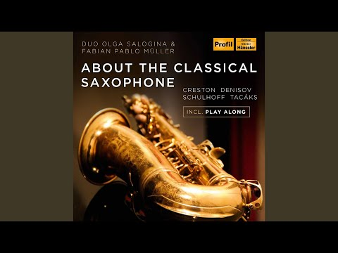 Alto Saxophone Sonata, Op. 19 (Piano Accompaniment) : I. With vigor