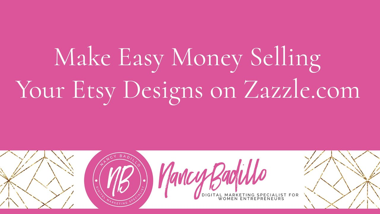 Make Easy Money Selling Your Etsy Designs On Zazzle!