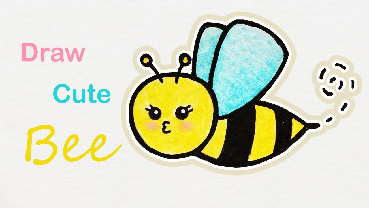 How To Draw A Cute Bee Step By Step Art For Kids Youtube