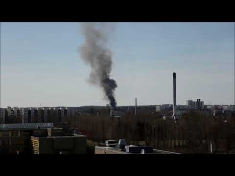 Feuer Holzbaracke Wittenau 6.4.18