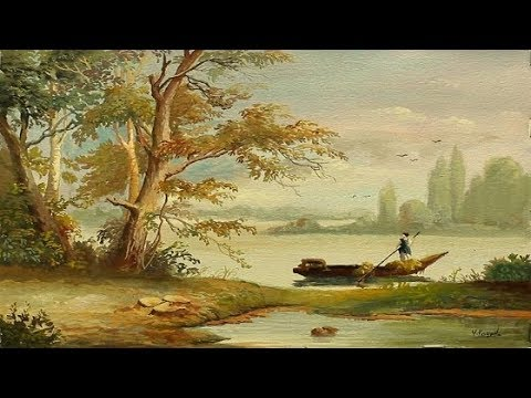 Poster Color Classical Landscape Painting With Yasser
