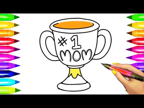 #1 Mom Trophy Coloring Pages   Top 5 Best Mother's Day Art Compilation for Kids