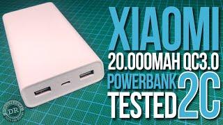 Xiaomi 20.000mAh QC3.0 Powerbank 2C tested (PLM06ZM)