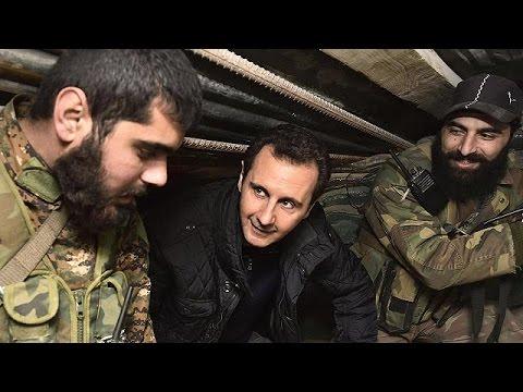 Αποτέλεσμα εικόνας για ο Ασαντ δίπλα στους στρατιώτες του