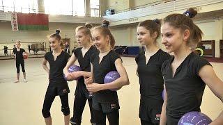 Белорусская сборная по художественной гимнастике готовится к чемпионату Европы в Минске