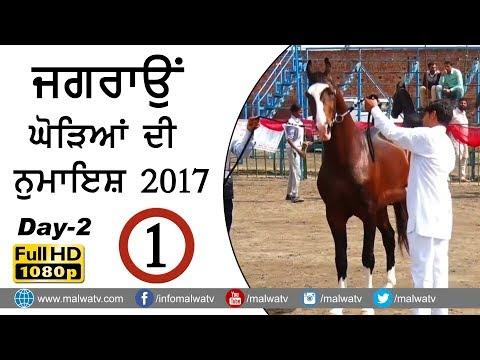JAGRAON ● ਘੋੜਿਆਂ ਦੀ ਨੁਮਾਇਸ਼ ● HORSE SHOW - 2017 ● DAY 2nd ●  Full HD ● Part 1st
