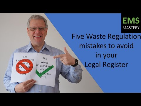 Five UK Waste Regulation mistakes to avoid