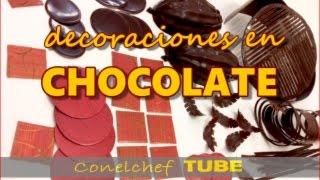 Decoraciones en chocolate (para postres y pasteles)