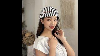 Женская полосатая шляпка без полей модная повседневная в стиле хип хоп с надписью от landlord