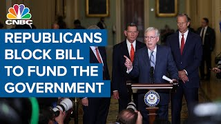Republicans block bill to fund the government, shutdown looms