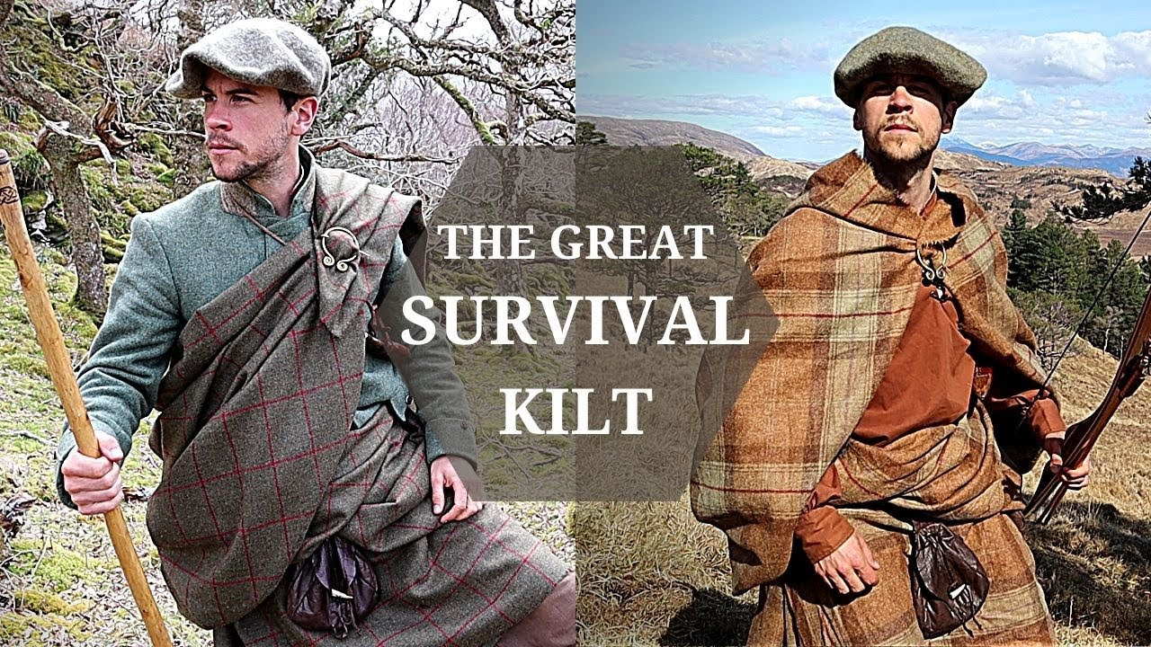 Download The Great Kilt -ULTIMATE SURVIVAL BLANKET? - Outdoor Clothing & Shelter in ONE Multifunctional Cloth