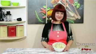 Салат из пекинской капусты, колбасы и зелёного  горошка