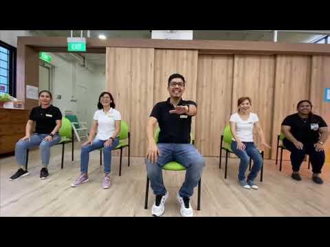 New horizon center exercise warm up at Bukit batok