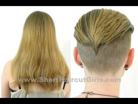 Long to Short Undercut Makeover www.ShortHaircutGirls.com