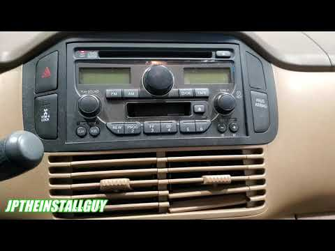 2005 Honda Pilot Radio Removal And CD Player Install